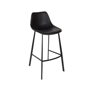 Tabouret de bar FRANKY h80cm black - Dutchbone