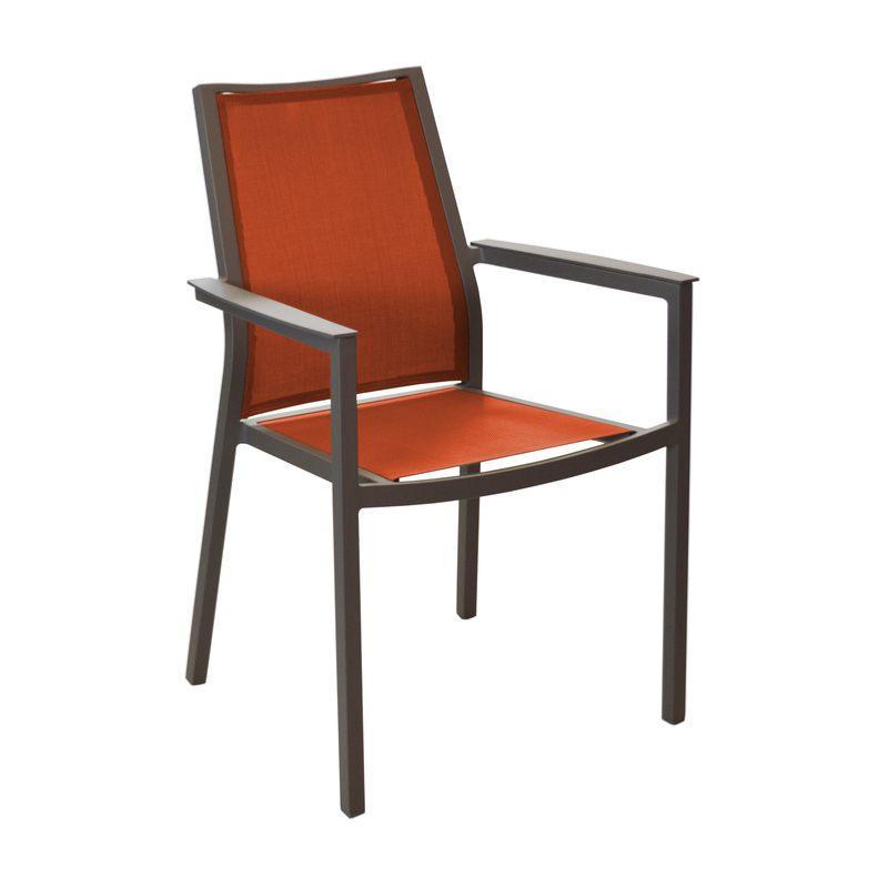 fauteuil ida finition poxy cafe paprika ch ssis en aluminium assise et dossier en toile. Black Bedroom Furniture Sets. Home Design Ideas