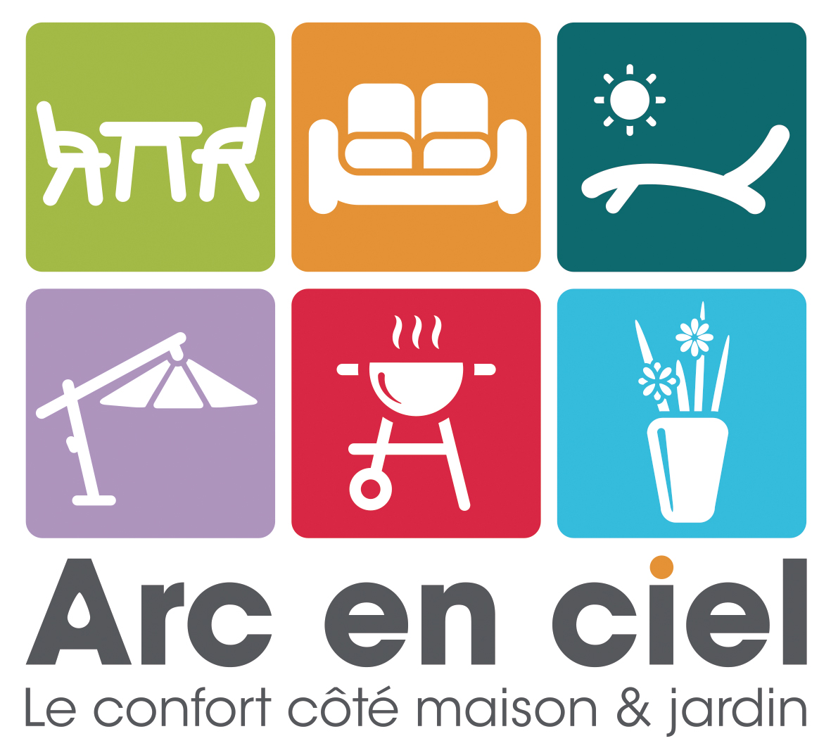 Mobilier exterieur arc en ciel for Salon de ciel