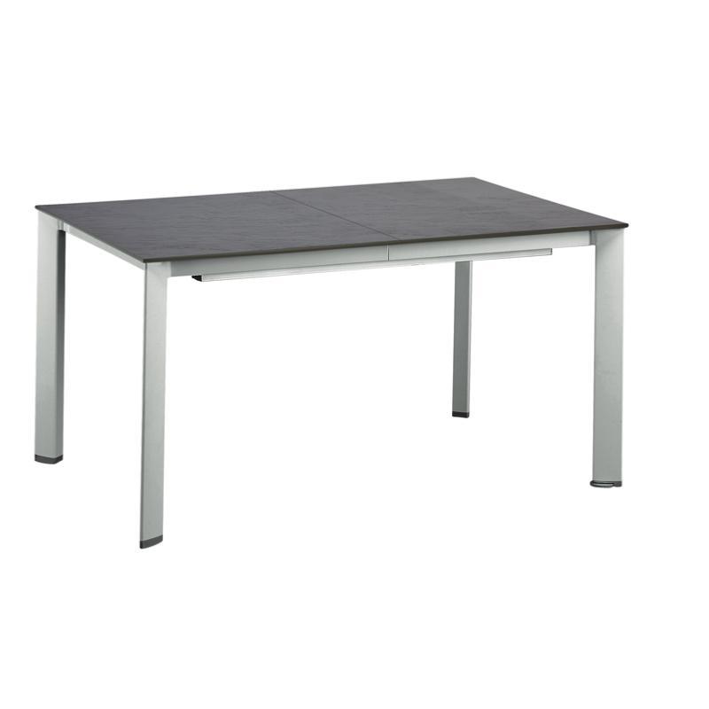 TABLE LOFT 159/219/279 CHASSIS ALU ARGENT PLATEAU GRIS ARDOISE KETTLER
