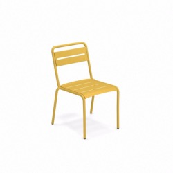 Chaise STAR - acier jaune curry - empilable - EMU