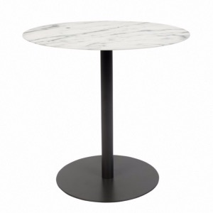 Table d'appoint Snow Noire Ronde Zuiver  réf.2300152