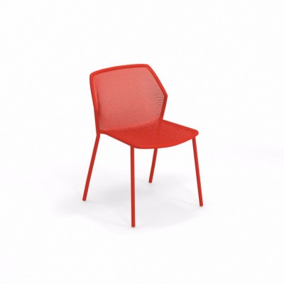 Chaise Darwin empilable - rouge - EMU
