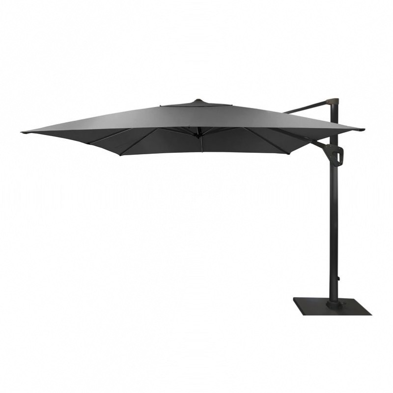 parasol deporte elios 3x4 m gr coloris chin fonc toile 280gr gris chine oceo