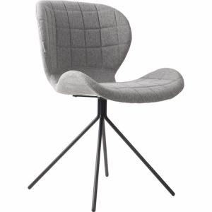Chaise OMG  tissu polyester coloris light grey ZUIVER