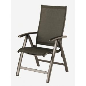 FAUTEUIL MULTIPOSITIONS ELEGANCE CAFE/TOILE 2 TONS (noir/taupe)