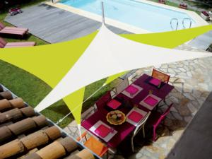 Voile Easy Sail triangulaire 3x3x3m coloris vert anis