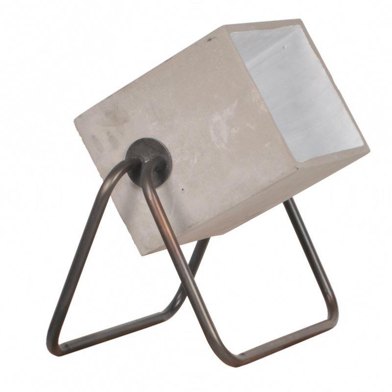 Ciment Poser Concrete Lampe Up Pied Métallique À En Zuiver Tube rdxoCeQWEB