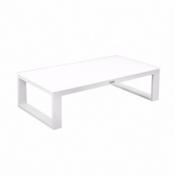 Table basse BELLUNO - 119x63cm - blanc : blanc - Garden Art