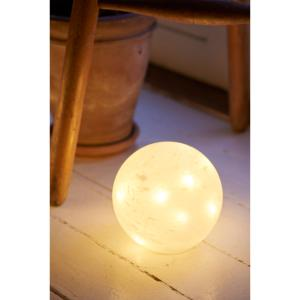 BOULE LUMINEUSE BALL EN VERRE DEPOLI BLANC 10 LEDS ET MINUTERIE SIRIUS