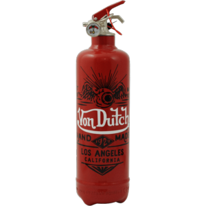Extincteur design Von Dutch rouge - FIRE DESIGN