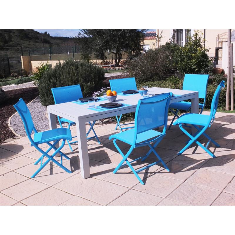 Mobilier d exterieur professionnel chaises tables design for Table jardin bleu