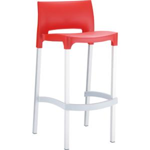 TABOURET BAR GIO ROUGE EMPILABLE