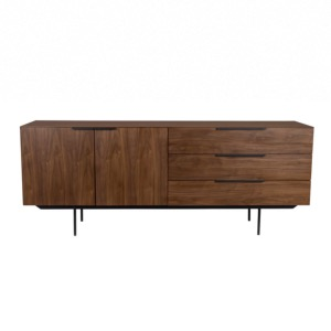Buffet TRAVIS placage en noyer naturel 180 x 45 x 70 cm - ZUIVER