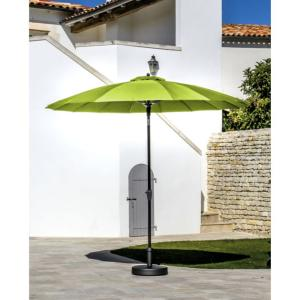 PARASOL DROIT Ø 300 CM PAGODE GREY/LEMON