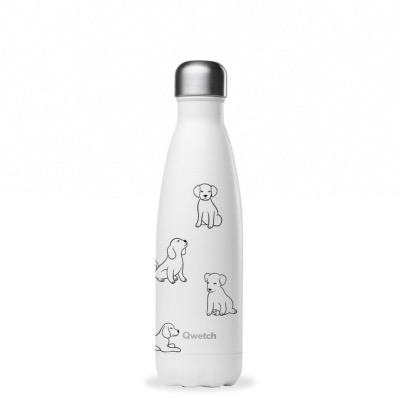 Bouteille isotheme collection PRETTY DOGS coloris blanc, 500ml