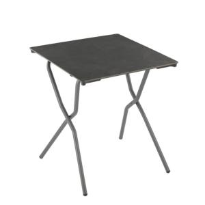 Table ANYTIME carrée 68 x 64 cm plateau HPL 6 mm coloris VOLCANIC Basalte Lafuma