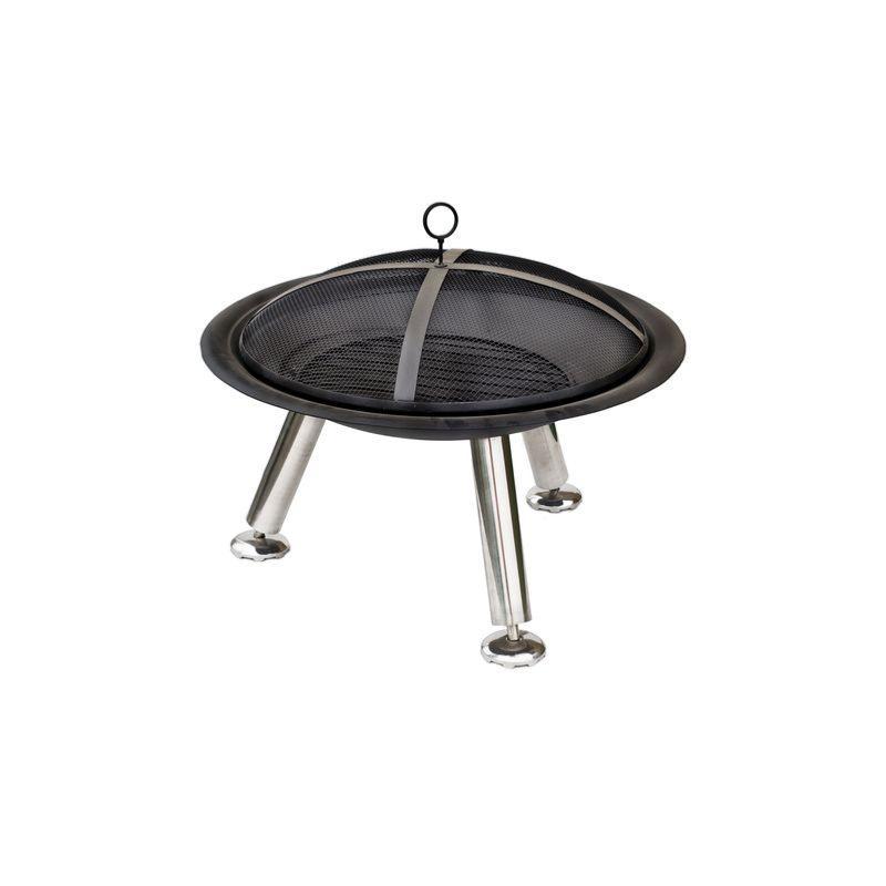 barbecue poser stamford 62x75cm en acier coloris noir acier. Black Bedroom Furniture Sets. Home Design Ideas