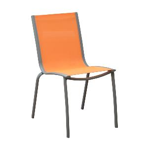 CHAISE LINEA TAUPE/ORANGE