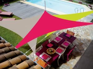 Voile Easy Sail triangulaire 3x3x3m coloris framboise