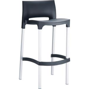 TABOURET BAR GIO NOIR EMPILABLE