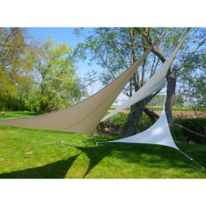 VOILE EASYSAIL TRIANGLE 4X4 TAUPE