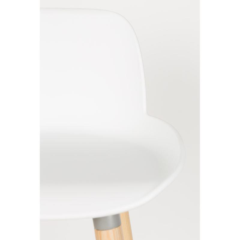chaise haute albert kuip coloris blanc 65 cm zuiver. Black Bedroom Furniture Sets. Home Design Ideas
