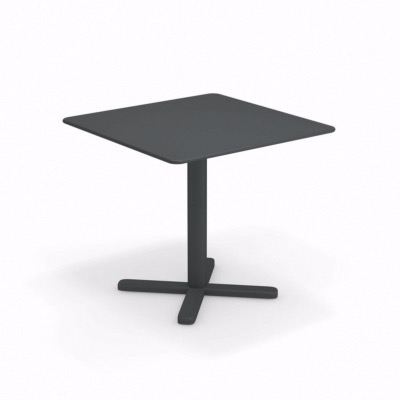 Table pliante Darwin - 80 x 80 x 74 cm - fer ancien - EMU