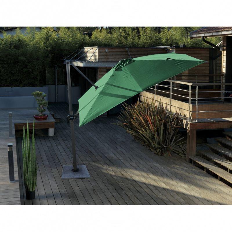 toile de parasol d port 3x3 coloris vert proloisirs. Black Bedroom Furniture Sets. Home Design Ideas