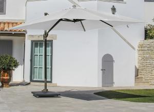 parasol deporte 3x3 elios toile polyester 250gr cru m t aluminium caf. Black Bedroom Furniture Sets. Home Design Ideas