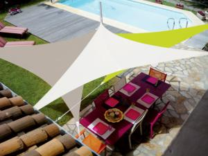 Voile Easysail triangle 3x3m coloris blanc
