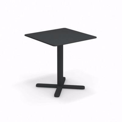 Table carré Darwin pliable - fer ancien - 70x70 cm - EMU