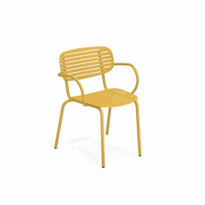 Fauteuil empilable MOM - Jaune Curry - EMU