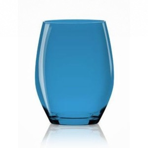 6 VERRES BALLON VERTICAL BEACH BLEU