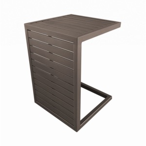 Table LOU SIDE châssis alu époxy CAFE lattes alu table 2 positions 57x40x40 ou 40x40x57