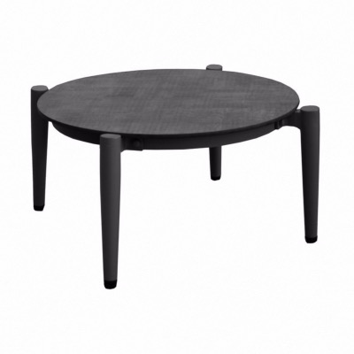 Table basse Dublin graphite Ø 72 cm - Océo