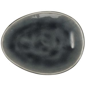 ASSIETTE PLATE HUITRE ANTHRACITE