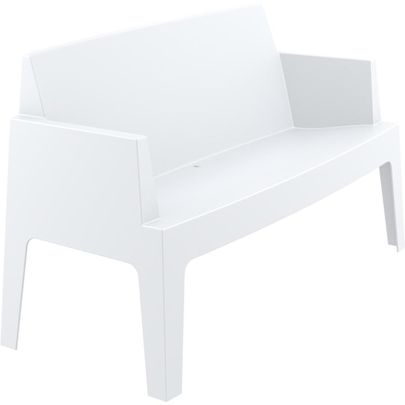 banc canape box empilable blanc. Black Bedroom Furniture Sets. Home Design Ideas