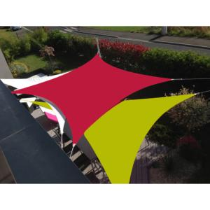 VOILE EASYSAIL CARREE 3X3 ROUGE CERISE
