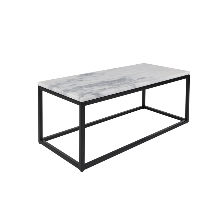 Basse 90x40x35 Cm Zuiver Marbre Table nw80Nm