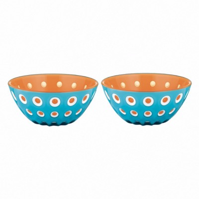 "Set De 2 Bols Ø12Cm ""Le Murrine"" - Bleu/Orange - Guzzini"