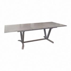 Table allongable Aube 180/240 cm old wood (finition Brush) - Océo
