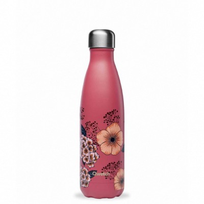 Bouteille isotherme collection ANEMONES coloris Terracotta  500ml Qwetch
