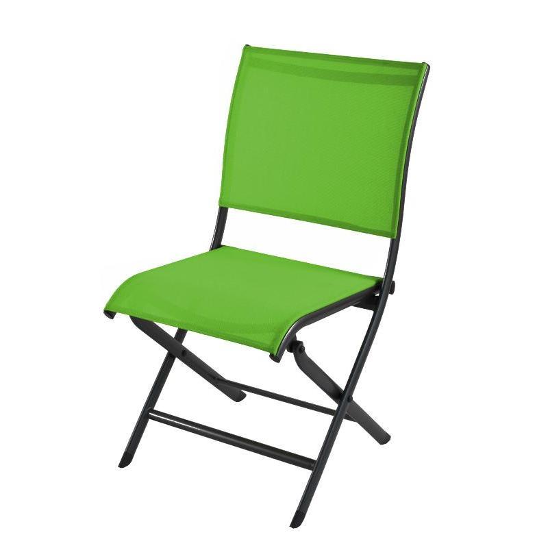 chaise elegance pliante grey mousse. Black Bedroom Furniture Sets. Home Design Ideas