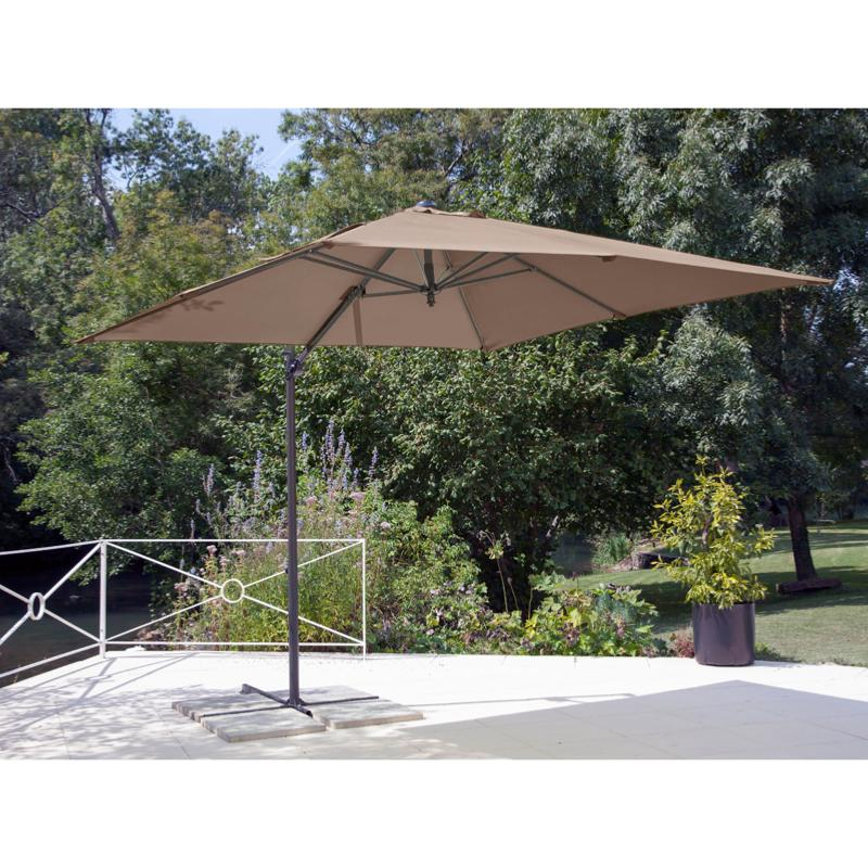 parasol roma 250x250 grey taupe. Black Bedroom Furniture Sets. Home Design Ideas