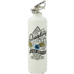 Extincteur design Von Dutch blanc - FIRE DESIGN