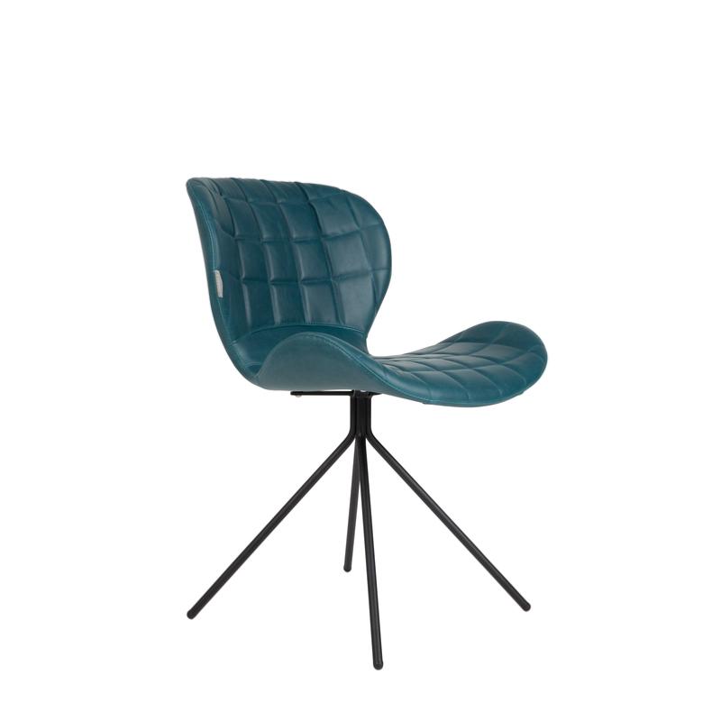 chaise omg ll pi tement en acier assise en polyur thane coloris petrol zuiver. Black Bedroom Furniture Sets. Home Design Ideas