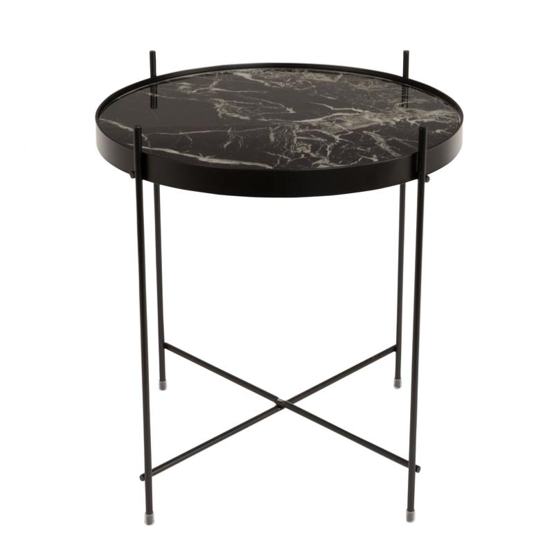Table d 39 appoint cupid marbre coloris noir 43x45cm zuiver - Table d appoint marbre ...