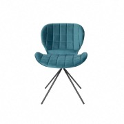 Chaise velours OMG bleu petrol - Zuiver