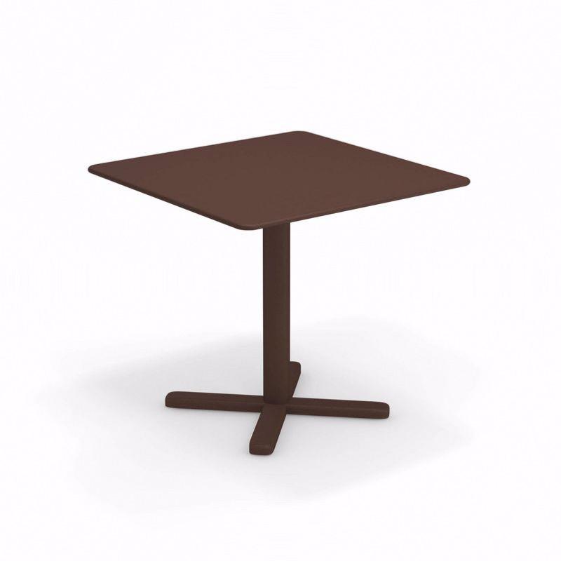 Table pliante Darwin - 80 x 80 x 74 cm - rouille - EMU
